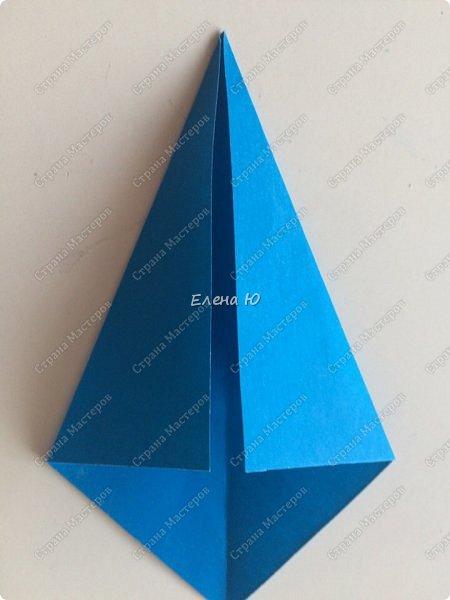 Для открыточки использован японский цветок-оригами, который я и предлагаю научиться складывать.  фото 20