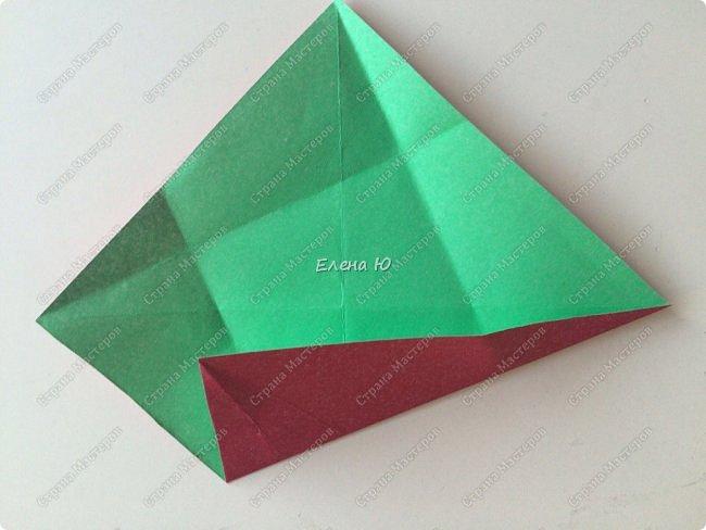 Для открыточки использован японский цветок-оригами, который я и предлагаю научиться складывать.  фото 6