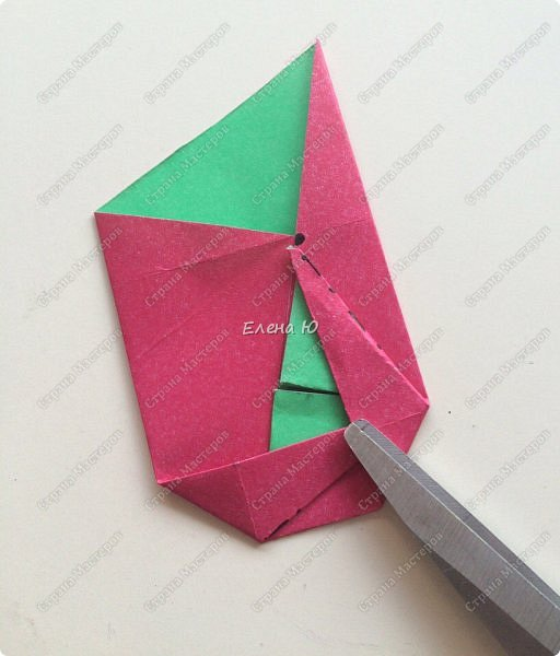 Для открыточки использован японский цветок-оригами, который я и предлагаю научиться складывать.  фото 10