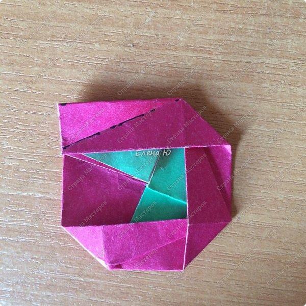 Для открыточки использован японский цветок-оригами, который я и предлагаю научиться складывать.  фото 13