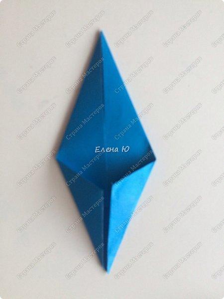 Для открыточки использован японский цветок-оригами, который я и предлагаю научиться складывать.  фото 21