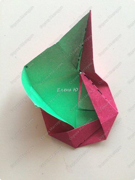 Для открыточки использован японский цветок-оригами, который я и предлагаю научиться складывать.  фото 14