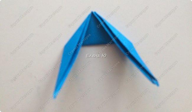 Для открыточки использован японский цветок-оригами, который я и предлагаю научиться складывать.  фото 23