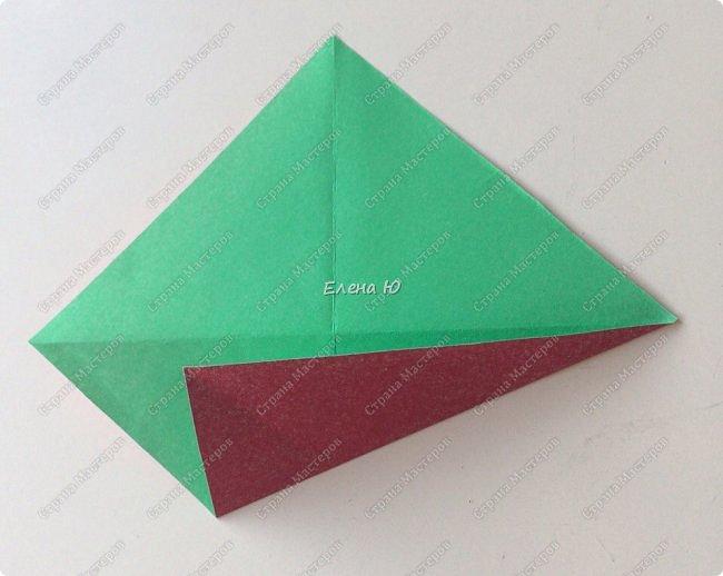 Для открыточки использован японский цветок-оригами, который я и предлагаю научиться складывать.  фото 4