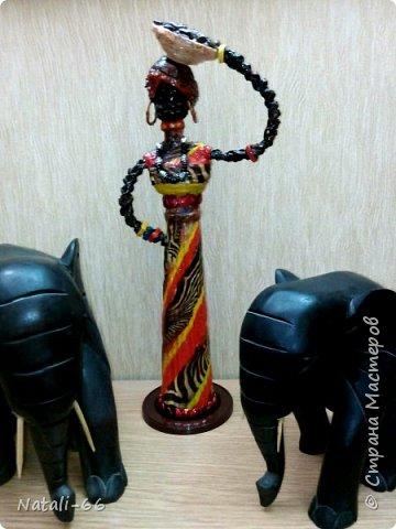 Привет всем жителям СМ. Очень мне нравятся африканки наших мастериц и я решила себе тоже сделать .Вам судить что вышло... фото 4