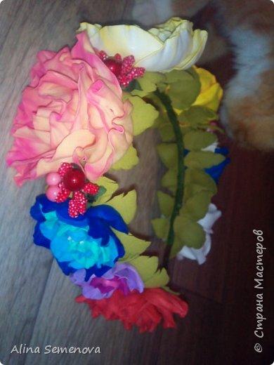 Объемные венки с цветами из фома фото 5