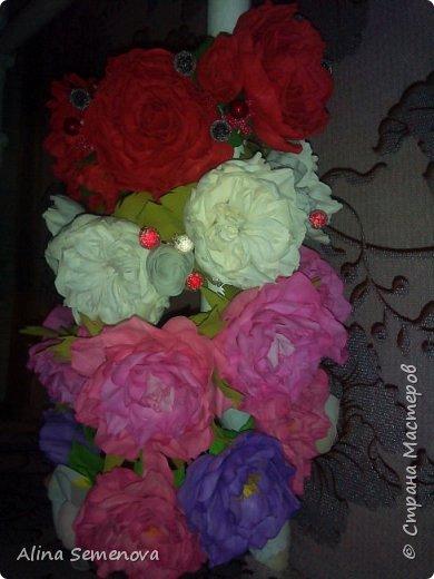 Объемные венки с цветами из фома фото 8