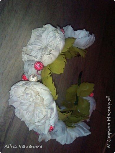 Объемные венки с цветами из фома фото 11