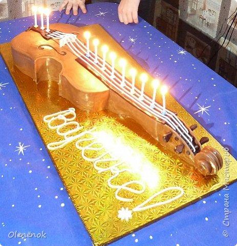 Тортик для талантливой девочки, играющей на скрипке, на 12-летие. фото 8