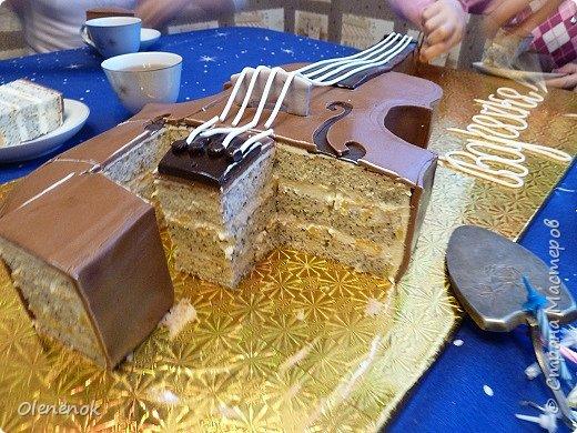 Тортик для талантливой девочки, играющей на скрипке, на 12-летие. фото 9