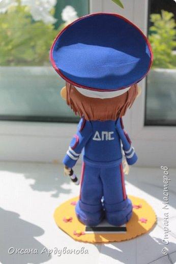 Кукла  инспектор  дорожно патрульной службы-выполнена на заказ! фото 4