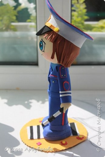 Кукла  инспектор  дорожно патрульной службы-выполнена на заказ! фото 3
