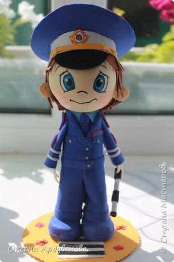 Кукла  инспектор  дорожно патрульной службы-выполнена на заказ! фото 2