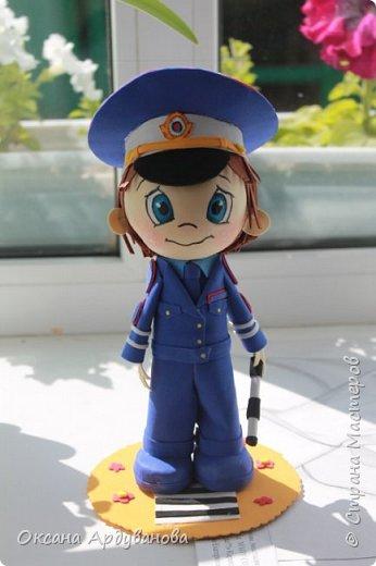 Кукла  инспектор  дорожно патрульной службы-выполнена на заказ! фото 1