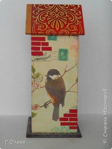 Домик для чайных пакетиков - это отличный вариант для хранения пакетиков с любимым чаем. Чайные домики подойдут к интерьеру  кухни, столовой или гостиной. А также станет незаменимым подарком по любому случаю..........  фото 3