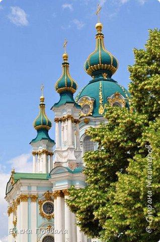 Андреевский собор в каштанах. В рамочке (дуб) со стеклом. Размер 170*240 мм фото 7