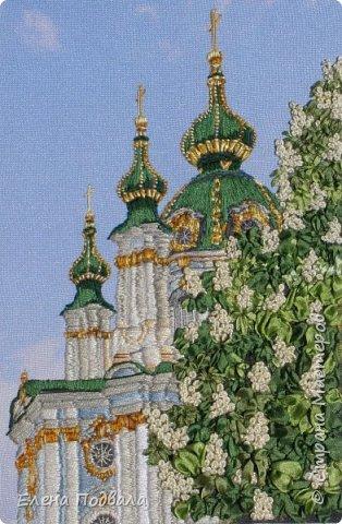 Андреевский собор в каштанах. В рамочке (дуб) со стеклом. Размер 170*240 мм фото 8