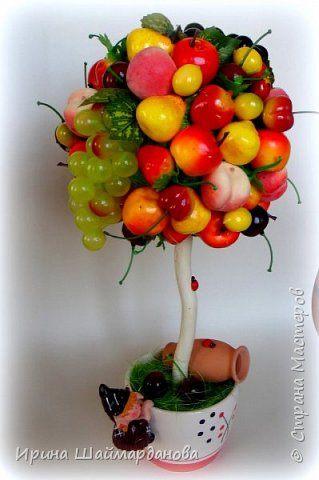 Здравствуй страна! Мой новенький ягодно-фруктовый топиарий)) фото 1