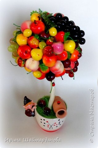 Здравствуй страна! Мой новенький ягодно-фруктовый топиарий)) фото 2