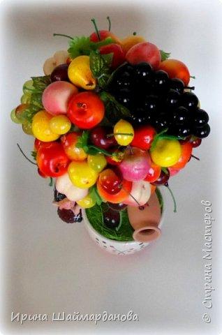 Здравствуй страна! Мой новенький ягодно-фруктовый топиарий)) фото 5