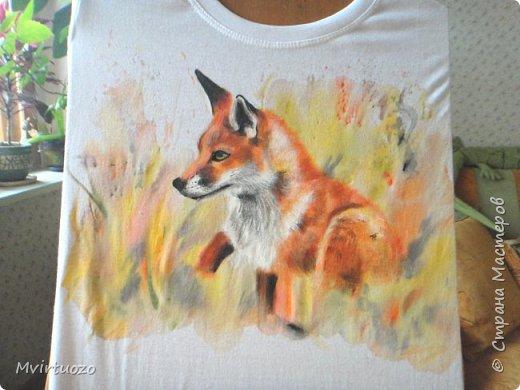 Вот такой осенняя лисичка появилась у меня на футболке.  фото 5