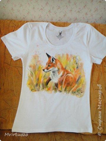 Вот такой осенняя лисичка появилась у меня на футболке.  фото 7