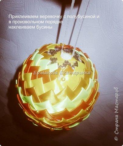 Вот такой шарик мы сегодня сделаем.Принцип изготовления такой же как и в голубом фото 22