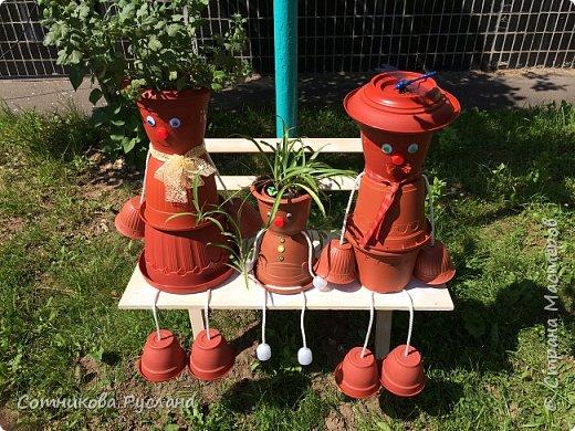 Дружная семейка из цветочных горшков. фото 2