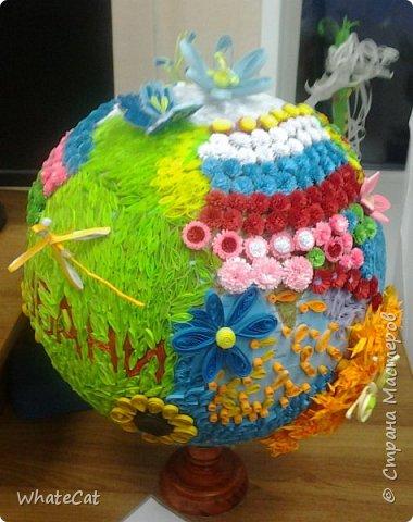 Глобус в стиле квиллинга! фото 1