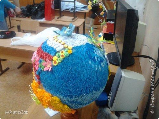 Глобус в стиле квиллинга! фото 2