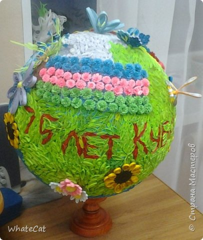 Глобус в стиле квиллинга! фото 3