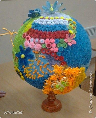 Глобус в стиле квиллинга! фото 8