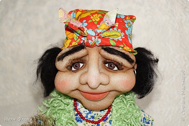 Интерьерная кукла, рост вместе с подставкой около 37 см. фото 4