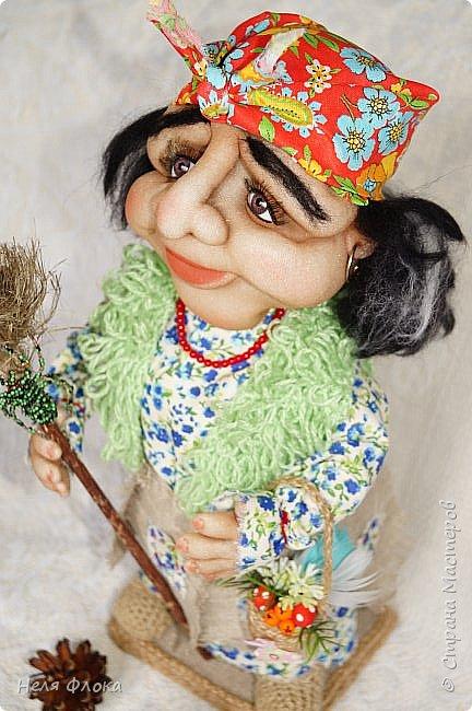 Интерьерная кукла, рост вместе с подставкой около 37 см. фото 2