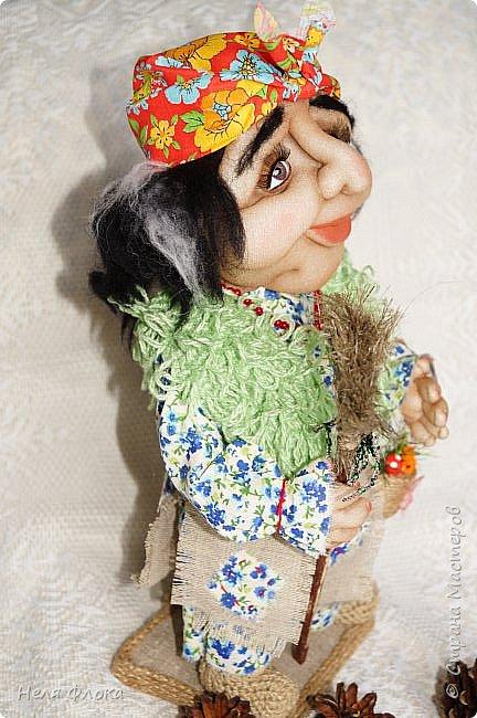 Интерьерная кукла, рост вместе с подставкой около 37 см. фото 3