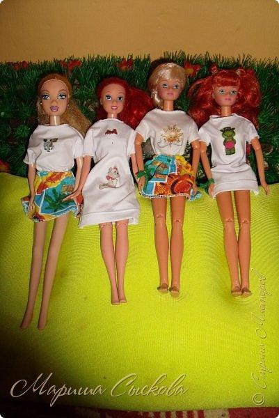 Вчера опробовала термотрансферы  для кукольных футболок .  Конечно не без косяков - парочку завалила прежде чем понять как их лучше переводить) фото 11