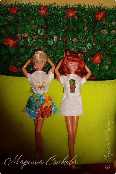 Вчера опробовала термотрансферы  для кукольных футболок .  Конечно не без косяков - парочку завалила прежде чем понять как их лучше переводить) фото 12
