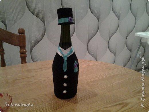 Доброго времени суток уважаемые жители СМ:-) Вот такие бутылочки получились у меня к 20-ой годовщине свадьбы друзей. фото 2