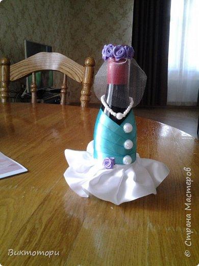 Доброго времени суток уважаемые жители СМ:-) Вот такие бутылочки получились у меня к 20-ой годовщине свадьбы друзей. фото 4