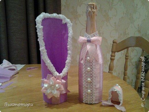 Здравствуйте уважаемые жители СМ, выставляю вам на суд мое творение, делала такую бутылочку впервые:-) фото 2