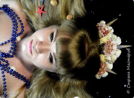 Видоизмененная для второй фотосессии Русалочья корона из ракушек.   фото 2
