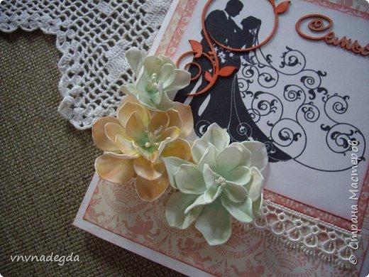 Свадебная открытка. Сын был свидетелем на свадьбе друга, попросил что-нибудь придумать. Придумала)  фото 4