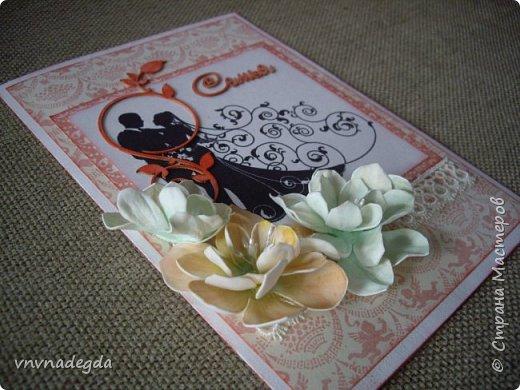 Свадебная открытка. Сын был свидетелем на свадьбе друга, попросил что-нибудь придумать. Придумала)  фото 2