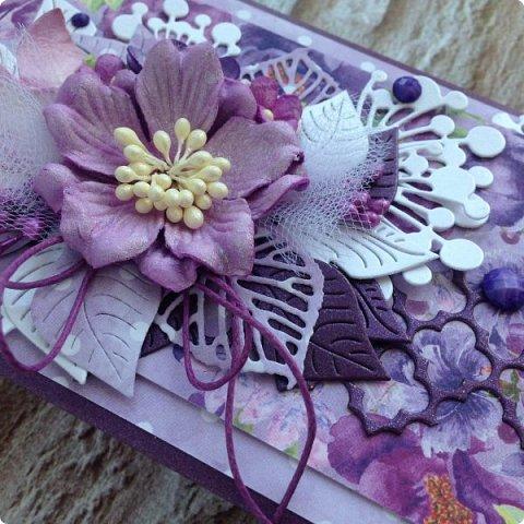 """Еще одна песнь о любви к бумаге, на обложке которой ангелок. Бумага Galeria Papieru. На этот раз коллекция сиреново-фиолетового цвета  """"Purple Rain-Фиолетовый дождь""""  фото 2"""