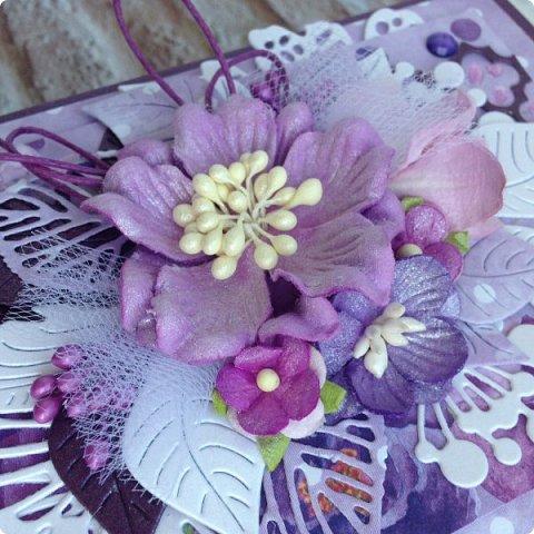 """Еще одна песнь о любви к бумаге, на обложке которой ангелок. Бумага Galeria Papieru. На этот раз коллекция сиреново-фиолетового цвета  """"Purple Rain-Фиолетовый дождь""""  фото 3"""
