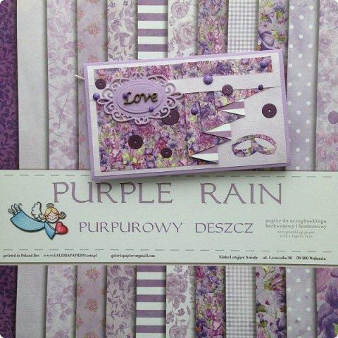 """Еще одна песнь о любви к бумаге, на обложке которой ангелок. Бумага Galeria Papieru. На этот раз коллекция сиреново-фиолетового цвета  """"Purple Rain-Фиолетовый дождь""""  фото 15"""