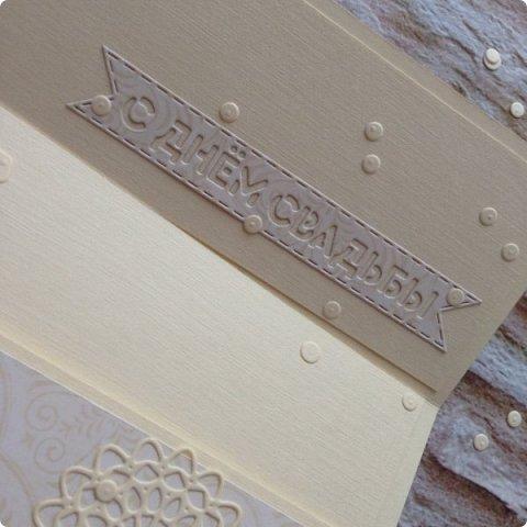 Ну, и в вдогонку бирюзе с фиолетовым дождем, еще два конвертика :) Сливочный монохром пользуется БОЛЬШОЙ популярностью:)  фото 5