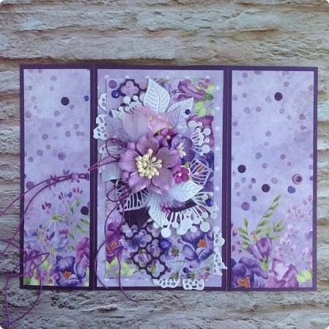 """Еще одна песнь о любви к бумаге, на обложке которой ангелок. Бумага Galeria Papieru. На этот раз коллекция сиреново-фиолетового цвета  """"Purple Rain-Фиолетовый дождь""""  фото 4"""