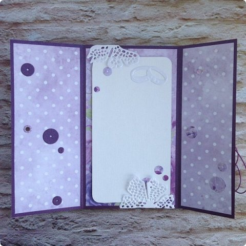 """Еще одна песнь о любви к бумаге, на обложке которой ангелок. Бумага Galeria Papieru. На этот раз коллекция сиреново-фиолетового цвета  """"Purple Rain-Фиолетовый дождь""""  фото 5"""