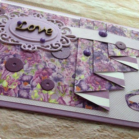 """Еще одна песнь о любви к бумаге, на обложке которой ангелок. Бумага Galeria Papieru. На этот раз коллекция сиреново-фиолетового цвета  """"Purple Rain-Фиолетовый дождь""""  фото 12"""